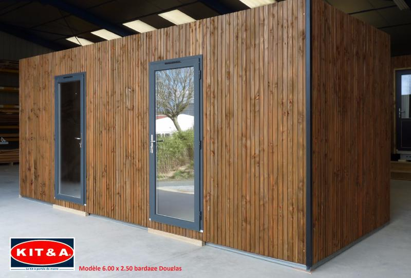 studio de jardin 100 bois en kit a 20 m habitables. Black Bedroom Furniture Sets. Home Design Ideas