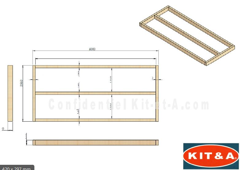 kit soubassement pour pose des modules bois kit a. Black Bedroom Furniture Sets. Home Design Ideas